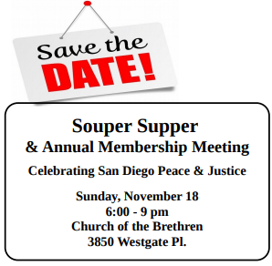 Are you ready?  Souper Supper & our Annual Membership Meeting Nov 18!