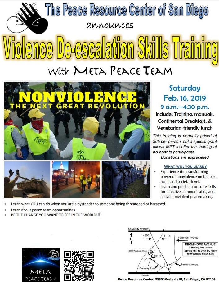 RSVP now for this proven skills training by Meta Peace Team.