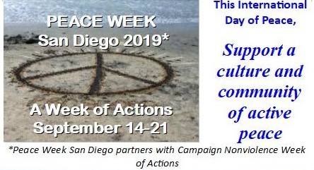 Peace Week San Diego 2019* – Calendar of Gatherings, Collaborations and Celebrations