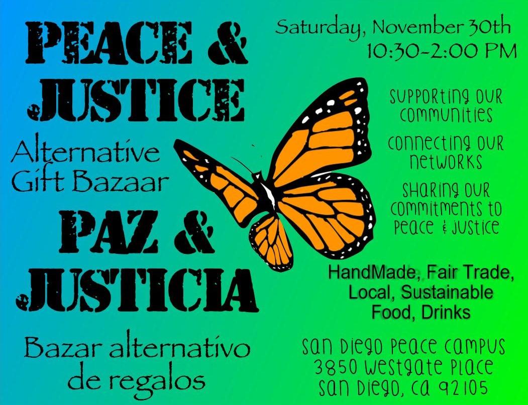 A Peace & Justice Alternative Gift Bazaar